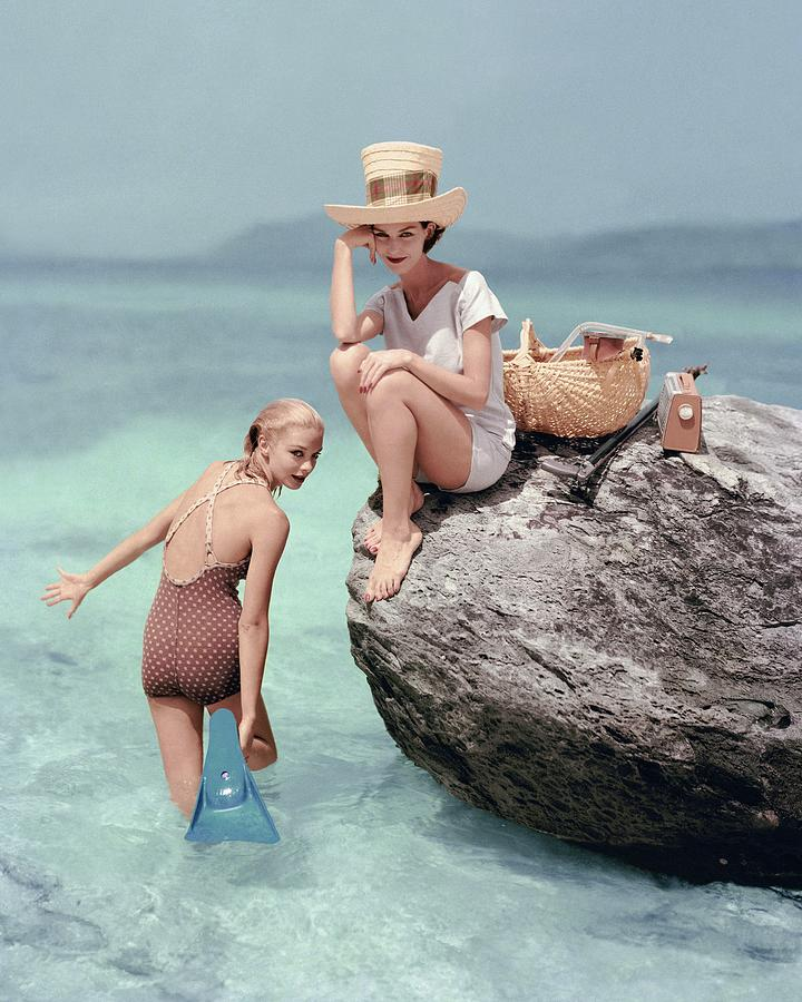 Models At A Beach Photograph by Richard Rutledge