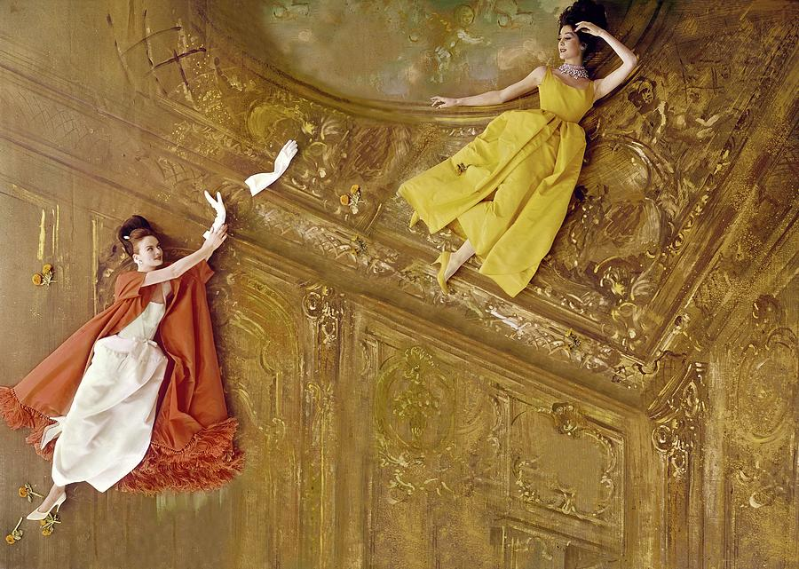 Models Flying Against A Baroque Ceiling by Henry Clarke