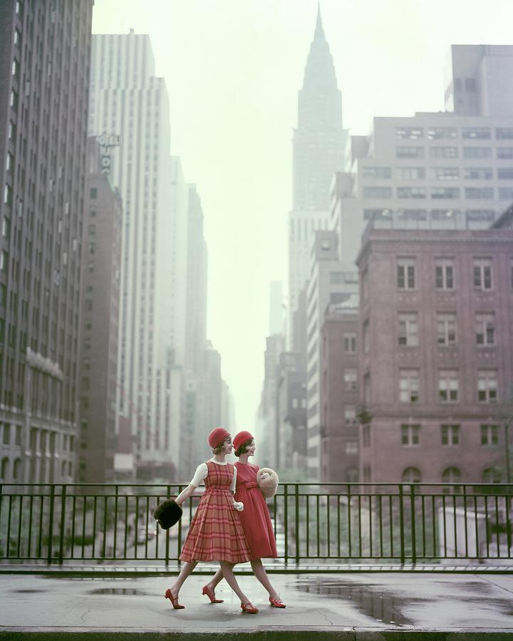 Models In New York City Photograph by Sante Forlano
