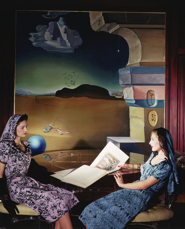 Models In The Dali Room In Helena Rubinsteins Photograph by Horst P. Horst