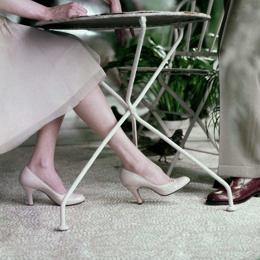 Models Legs And Feet Wearing Pumps Photograph by Frances McLaughlin-Gill
