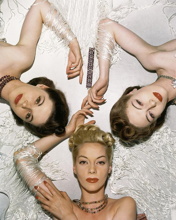 Models Lying Down Photograph by Horst P. Horst