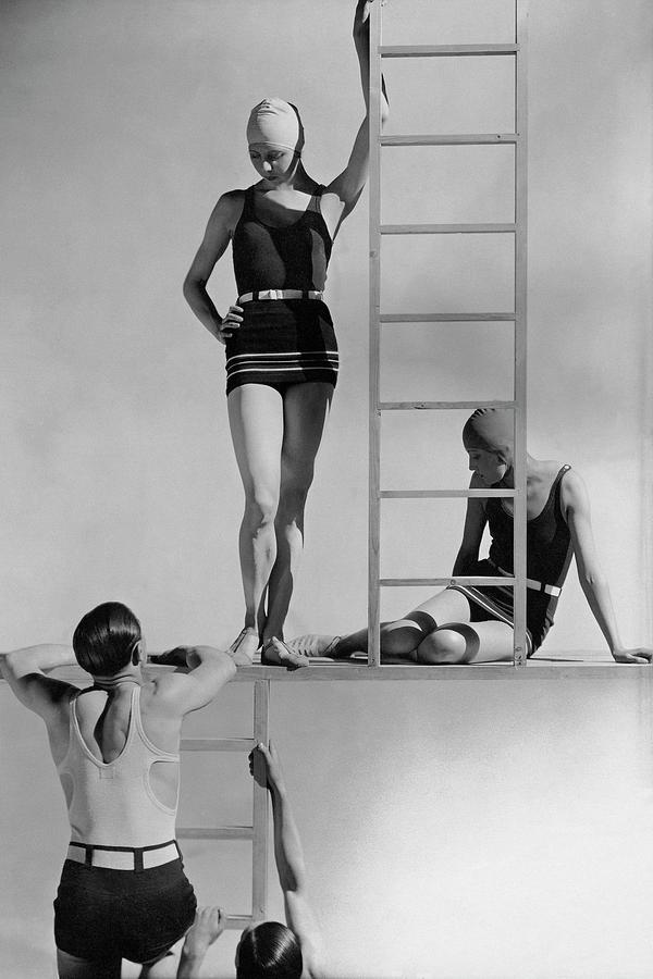 Fashion Photograph - Models Wearing Bathing Suits by George Hoyningen-Huene