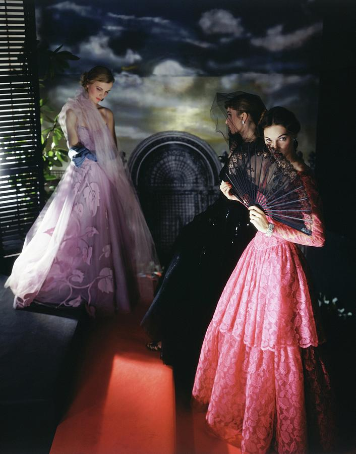 Models Wearing Evening Gowns Photograph by Horst P. Horst