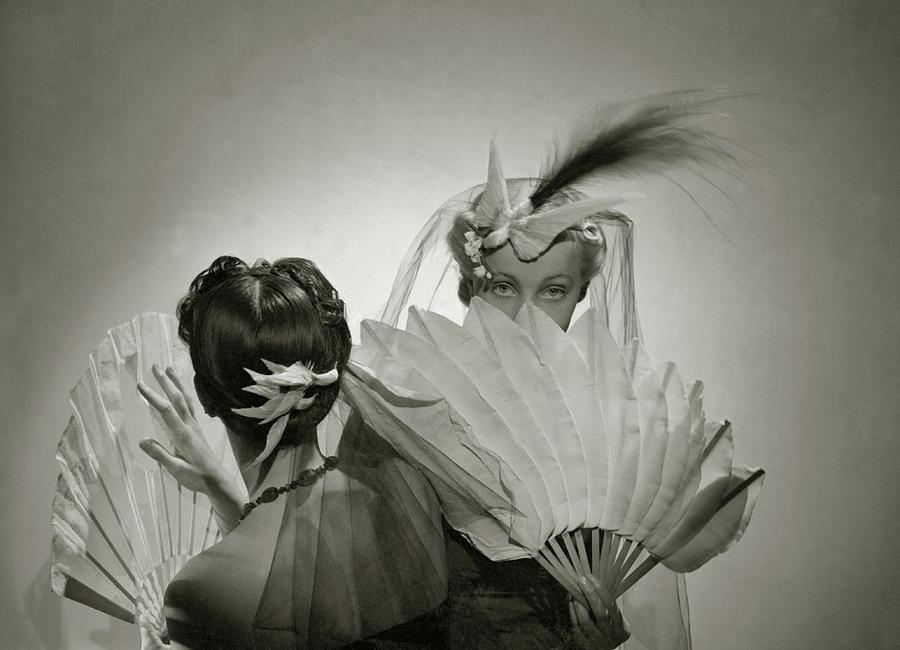 Models Wearing Patou Headdresses Photograph by Cecil Beaton