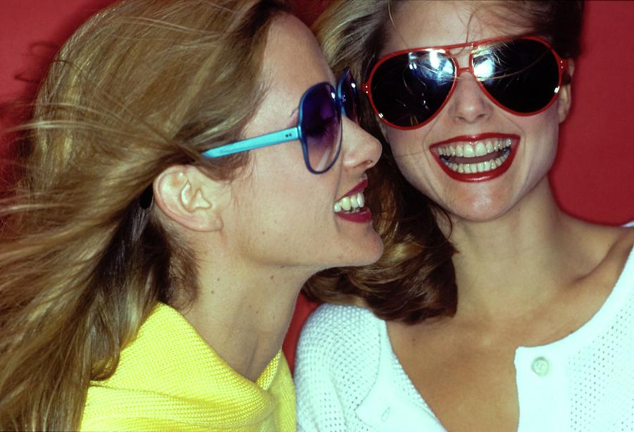 Beauty Photograph - Models Wearing Sunglasses by Jacques Malignon