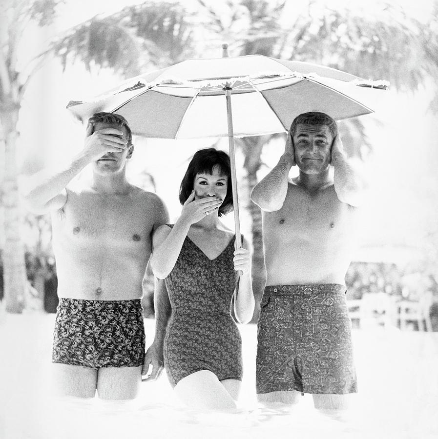 Models Wearing Swimwear Photograph by Richard Waite