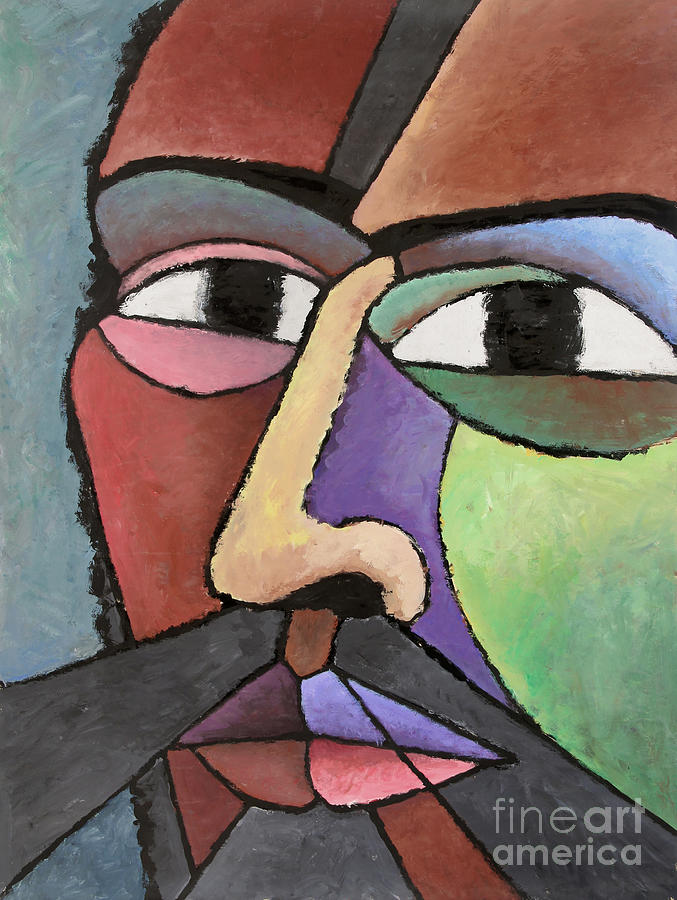 Modern Abstract Art About Face