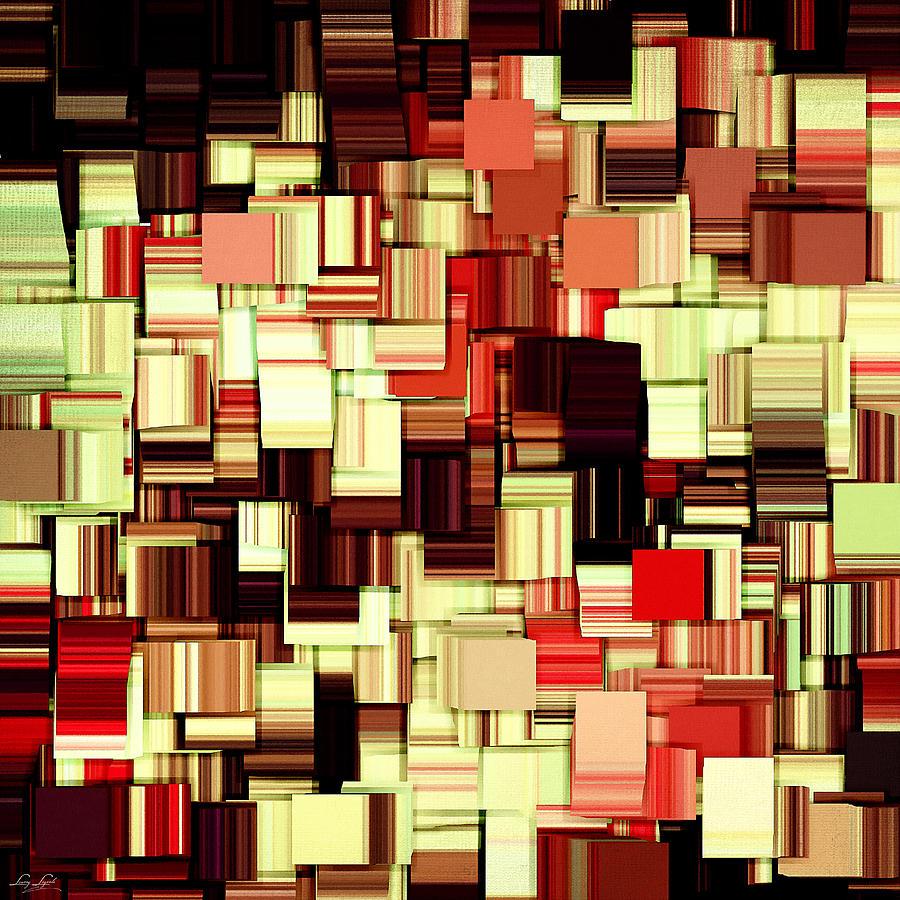 Abstract Digital Art - Modern Abstract Art Xvii by Lourry Legarde