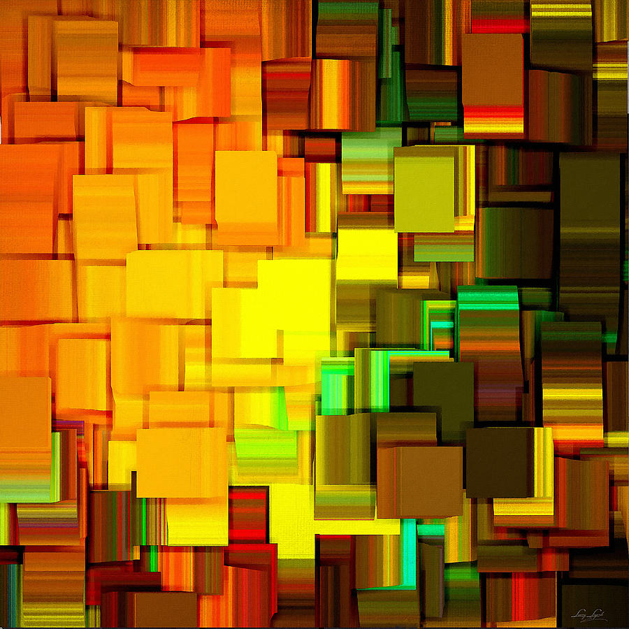 Abstract Digital Art - Modern Abstract IIi by Lourry Legarde