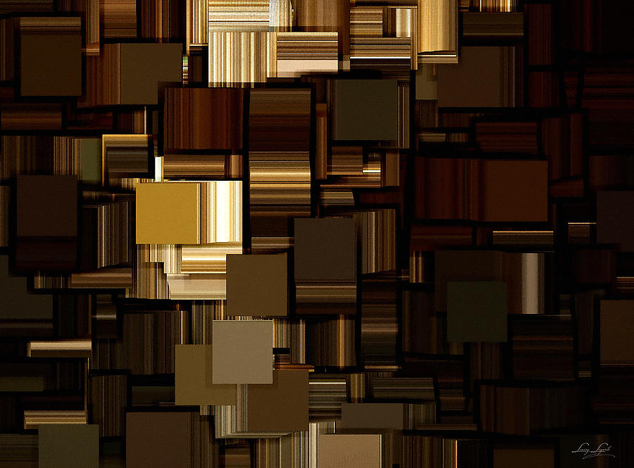 Abstract Digital Art - Modern Abstract Iv by Lourry Legarde