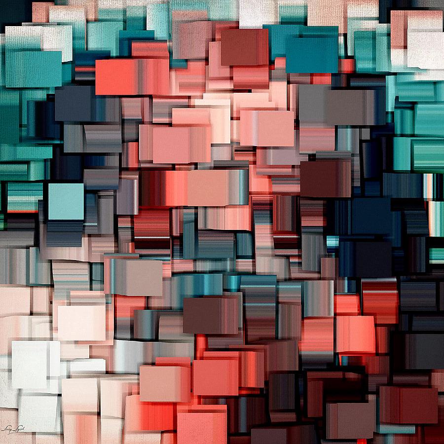 Abstract Digital Art - Modern Abstract Ix by Lourry Legarde