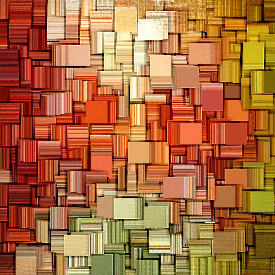 Abstract Digital Art - Modern Abstract Viii by Lourry Legarde
