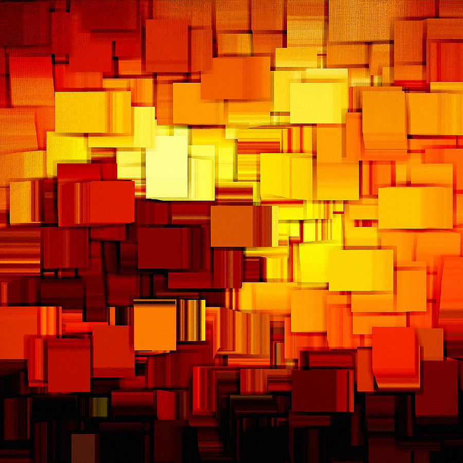 Abstract Digital Art - Modern Abstract Xi by Lourry Legarde