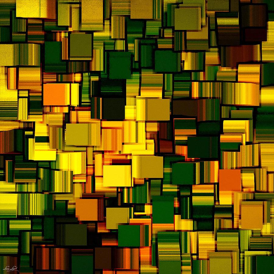 Abstract Digital Art - Modern Abstract Xxii by Lourry Legarde