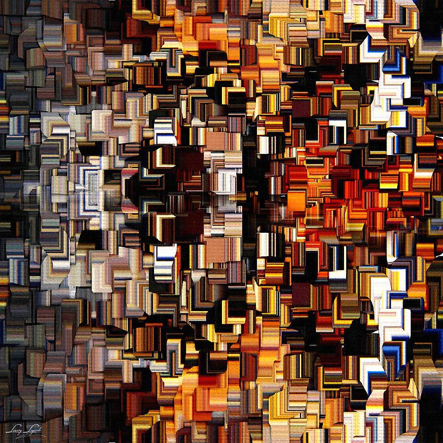 Squares Digital Art - Modern Abstract Xxvii by Lourry Legarde