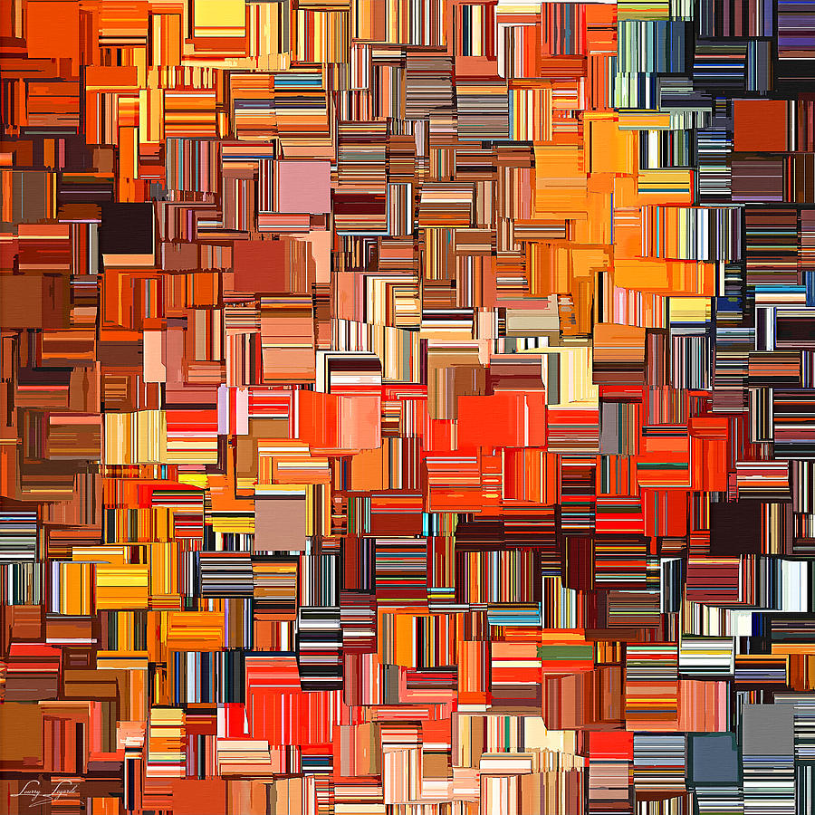 Orange Digital Art - Modern Abstract Xxxi by Lourry Legarde