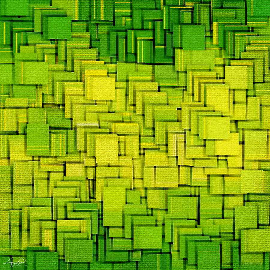 Light Green Digital Art - Modern Abstract Xxxiii by Lourry Legarde