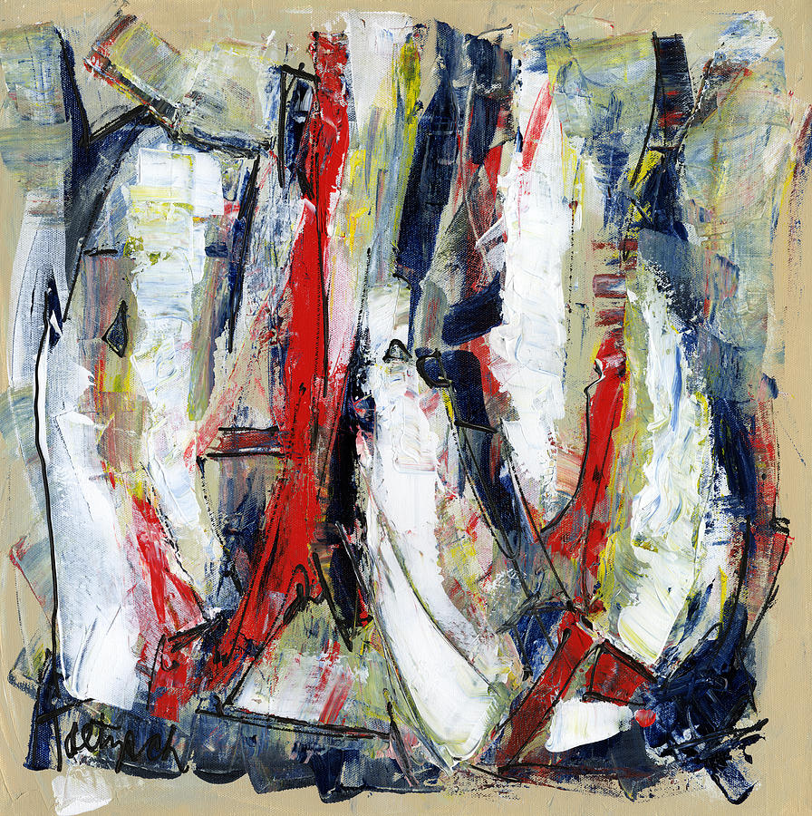 modern art twenty painting by lynne taetzsch
