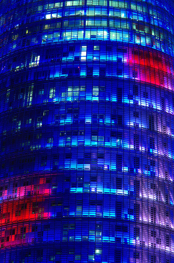 Barcelona Photograph - Modern Building At Night by Ioan Panaite