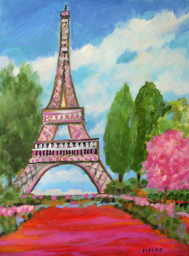 Eiffel Tower Painting - Modern Eiffel by Karen Fields