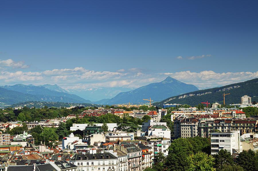 Modern Geneva Photograph by Antares71