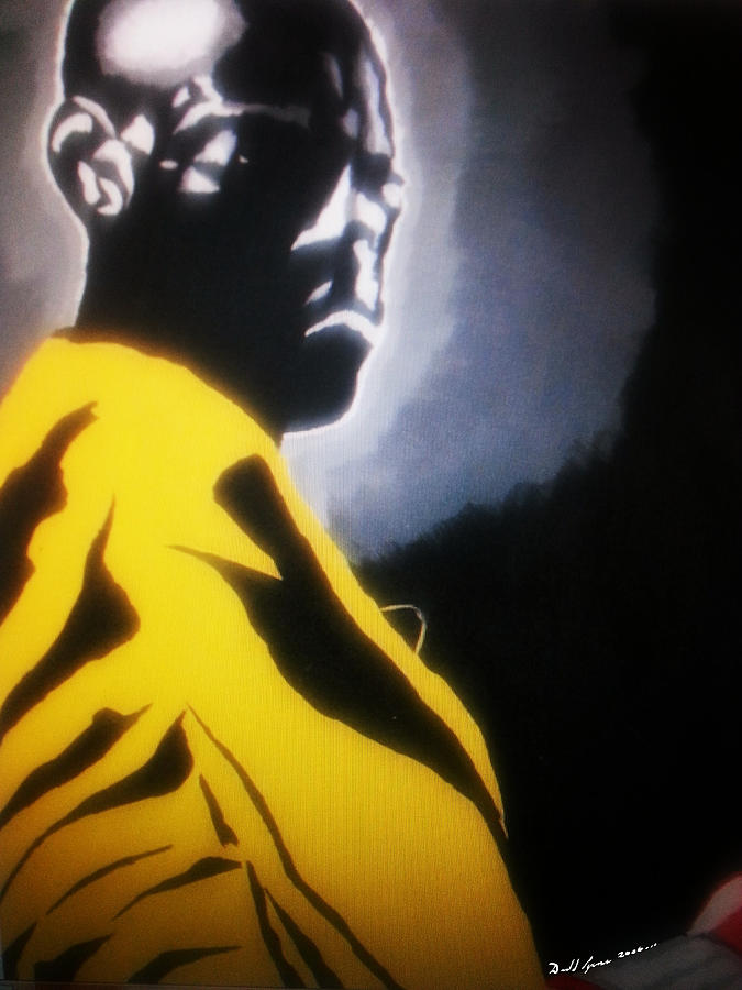Black Art Paintings Painting - Modern Gladiator by Donald Lyons