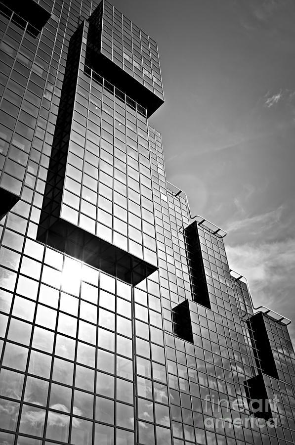 Modern Glass Building Photograph
