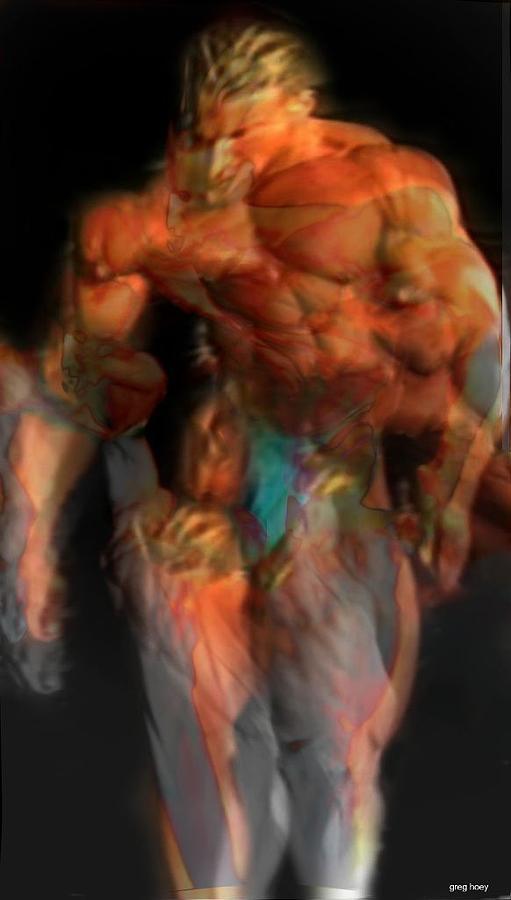 Nude Digital Art - modern Hercules IIi - Limited Edition 1 Of 10 by Greg Hoey