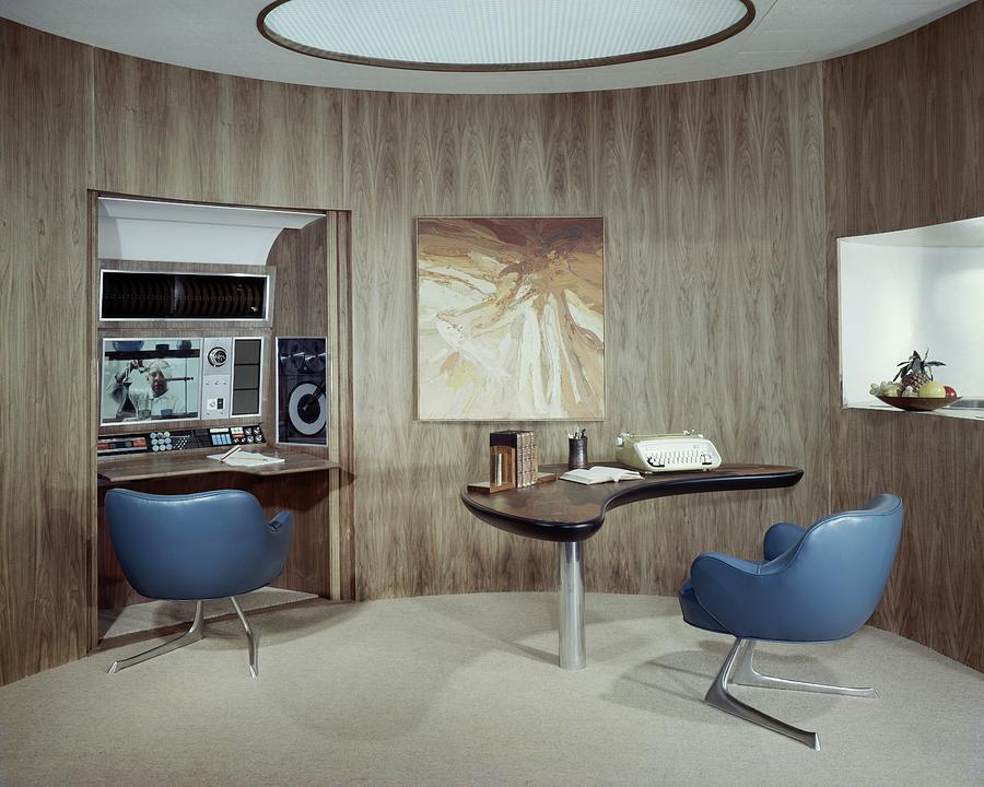 Modern Home Office Photograph by Wiliam Grigsby