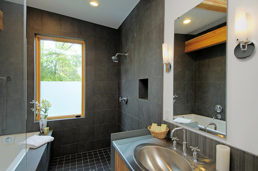 Absence Photograph - Modern Shower And Sink by Will Austin