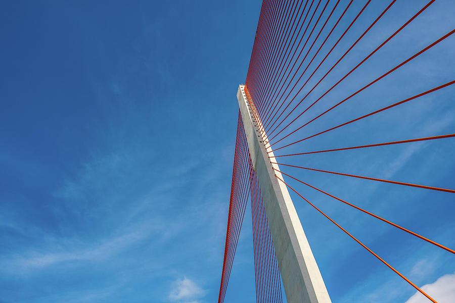 Modern Suspension Bridge Photograph by Phung Huynh Vu Qui