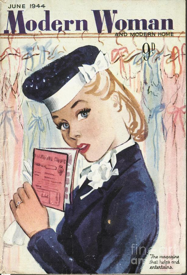 1940�s Drawing - Modern Woman 1944 1940s Uk Womens by The Advertising Archives