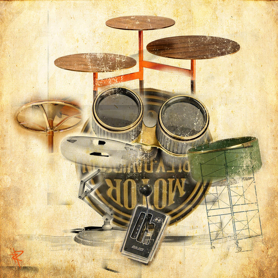 Modernist Percussion Mixed Media by Russell Pierce