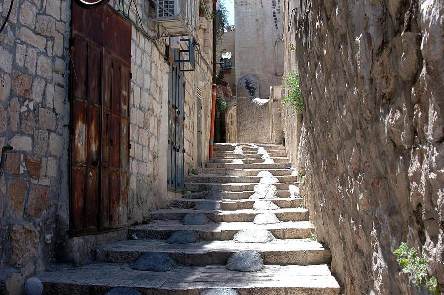 Israel Photograph - Modified Stairway by David Rosenthal