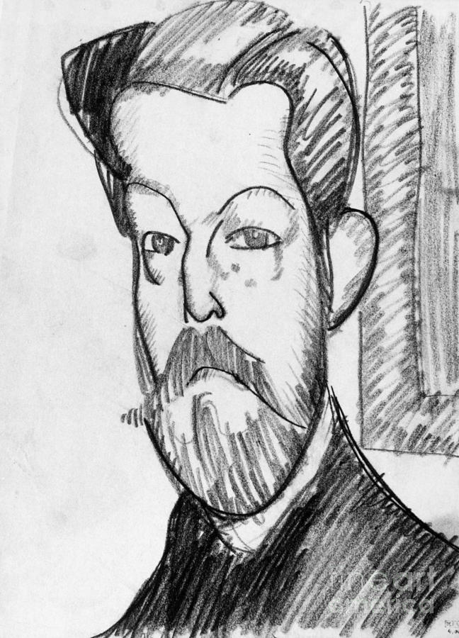 1909 Drawing - Modigliani - Paul Alexander by Granger