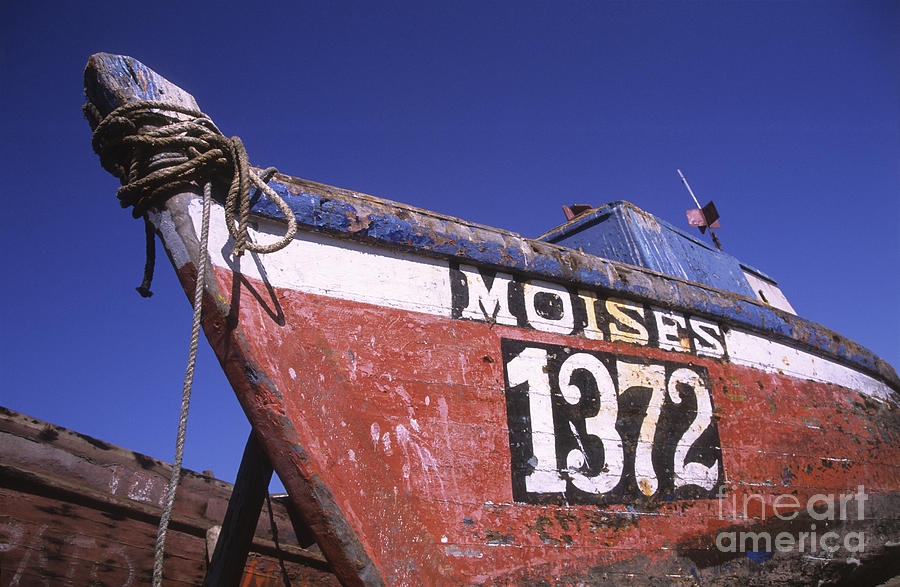 Fishing Boat Photograph - Moises The Fishing Boat by James Brunker