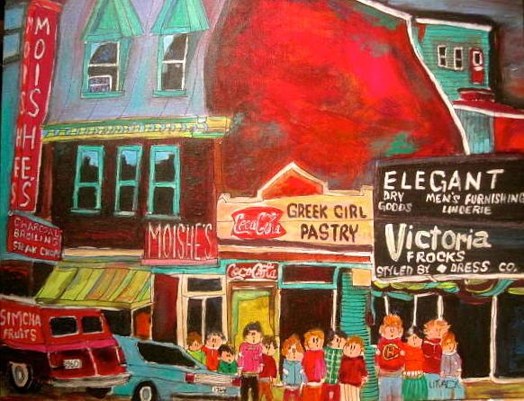Restaurants Painting - Moishes Steak House 1960s Montreal Memories by Michael Litvack