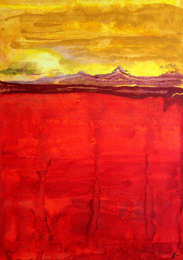 Mojave Painting - Mojave Dawn Original Painting by Sol Luckman