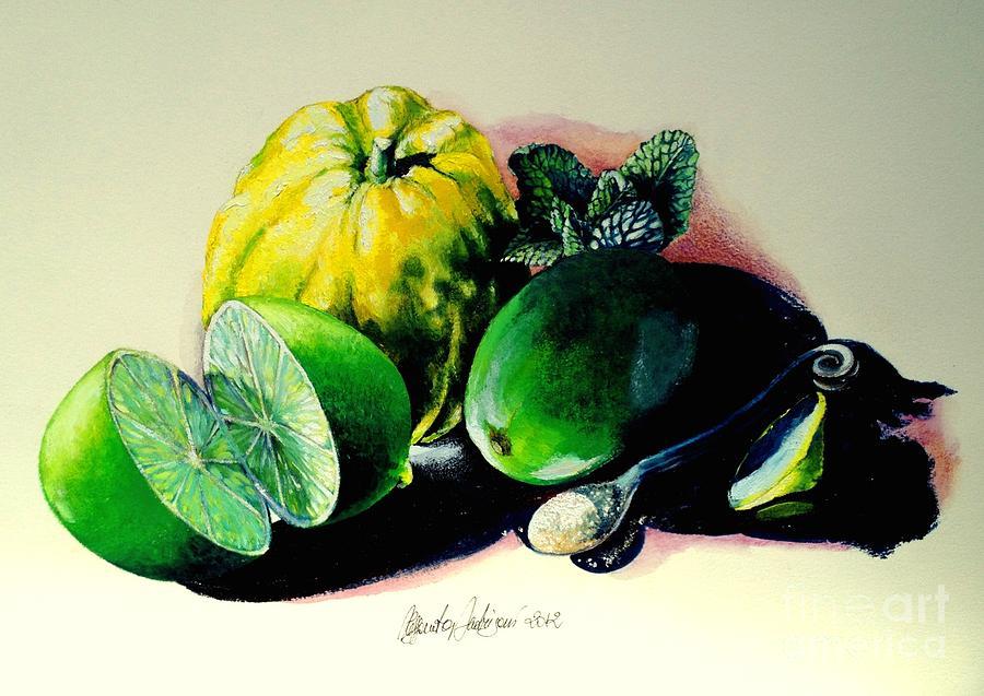 Citrus Painting - Mojito N.2 by Alessandra Andrisani