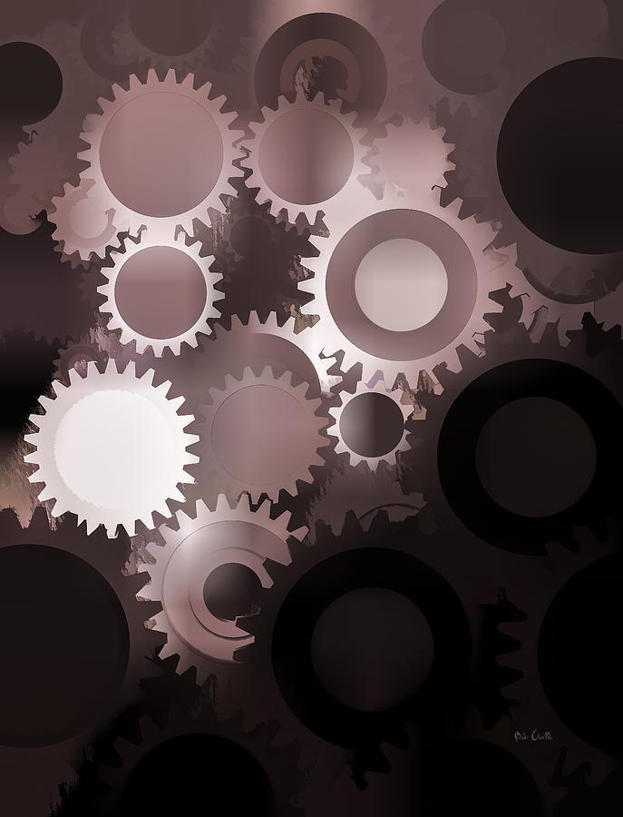 Gears Photograph - Mojo Synchronicity by Bob Orsillo