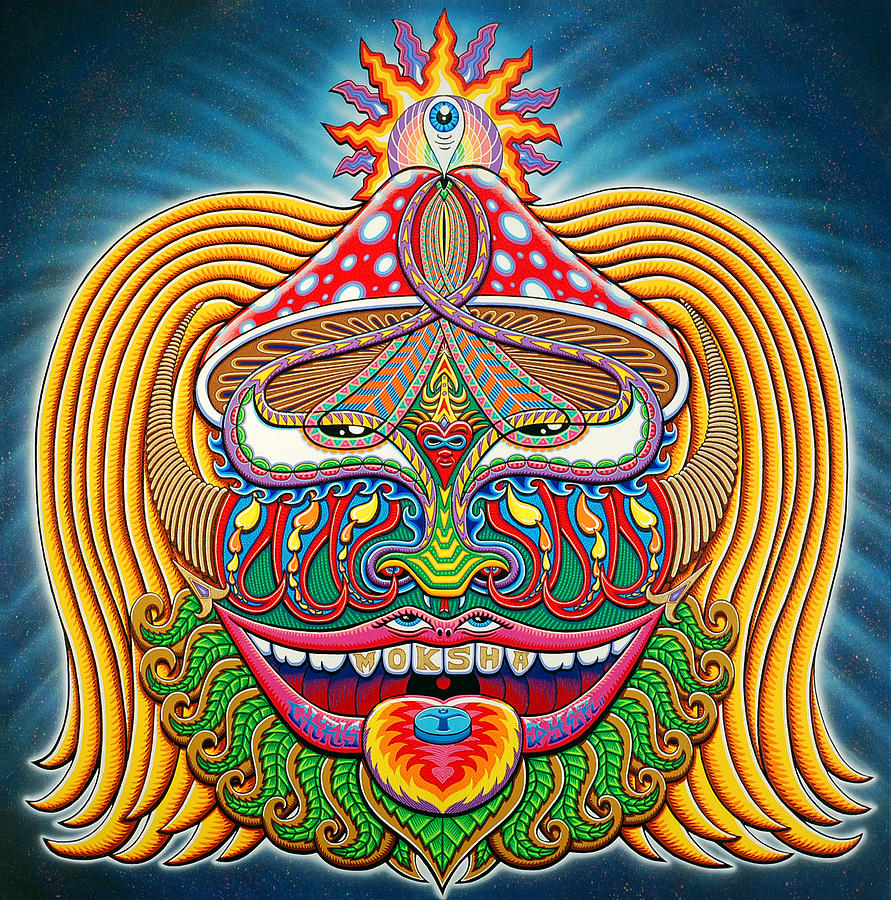 Enlightenment Painting - Moksha Master by Chris Dyer