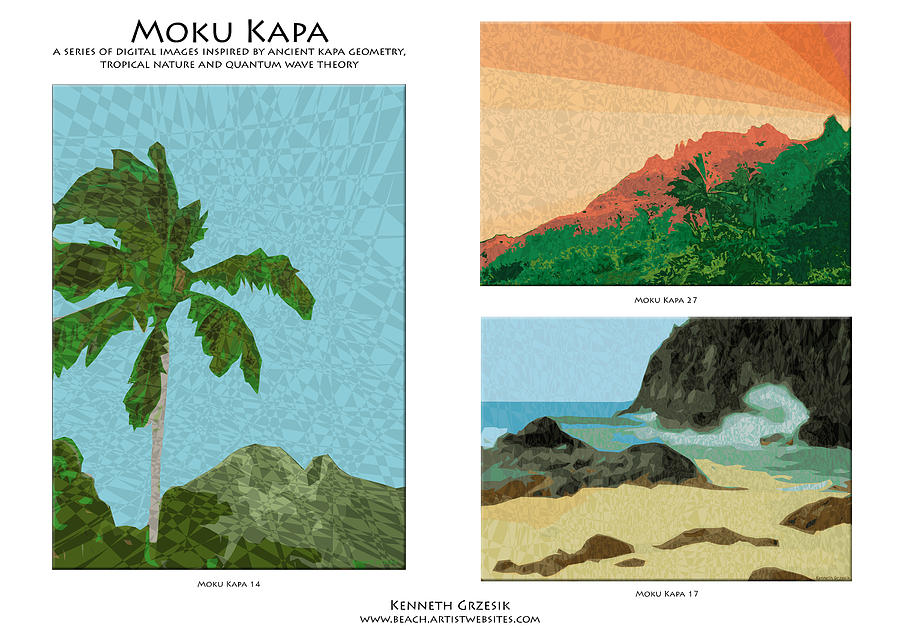 Tropical Warmth Digital Art - Moku Kapa Poster by Kenneth Grzesik