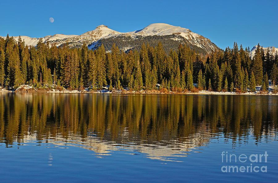 Molas Lake Photograph - Molas Moon by Kelly Black