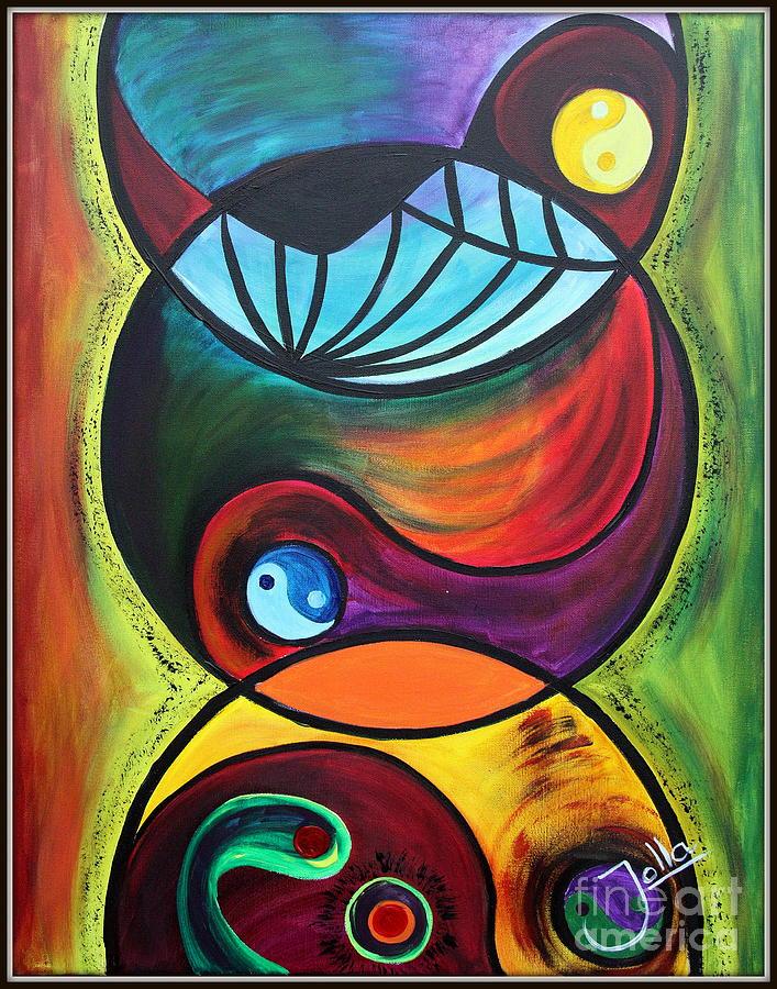 Abstract Painting - Molecules Of Emotion by Jolanta Anna Karolska