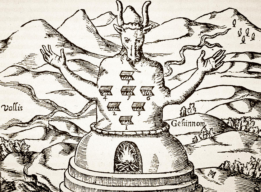 Occult Drawing - Moloch by Italian School