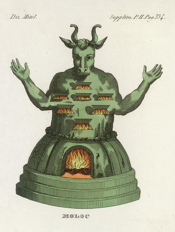 Religion Drawing - Moloch, The God Of The  Ammonites, An by Mary Evans Picture Library