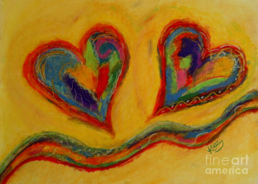 Happy Heart Pastel - Mom And Me by Kelly Athena