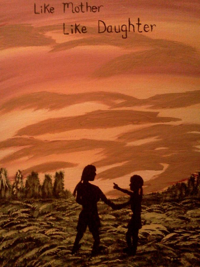 Mom And Me Painting by Renee McKnight