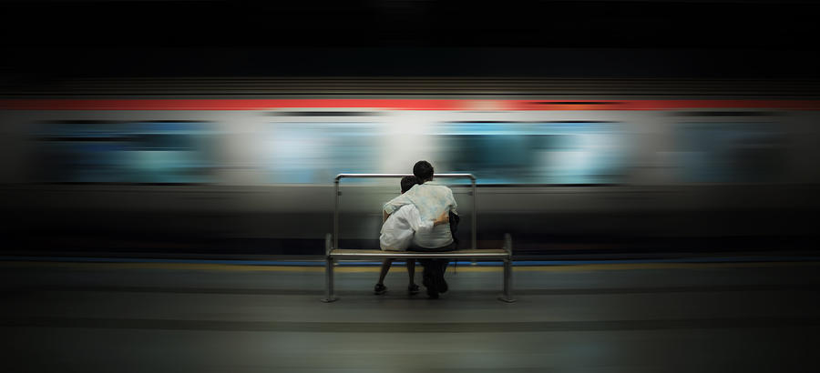 Train Photograph - Mom!  Do Not Leave Me... by Ademhabibe